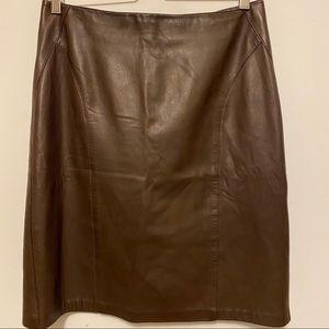 Vintage Danier Italian buttery Leather Skirt